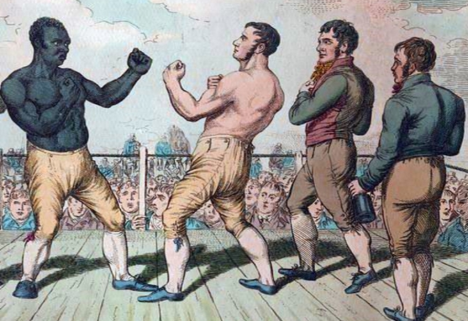 The Black Drummer's Boxing Match against the Argyllshires